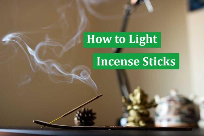 How to Light Incense Sticks