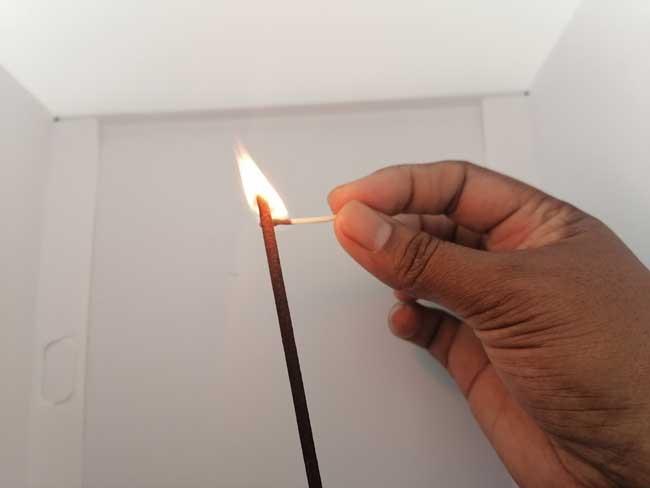 Lighting the stick