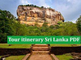 Tour itinerary Sri Lanka PDF