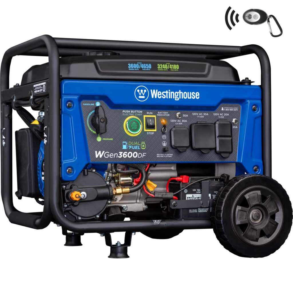 Westinghouse WGen3600DF Dual Fuel Generator