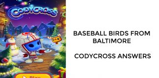 Baseball Birds From Baltimore - Codycross Answers