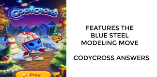 Features The Blue Steel Modeling Move – Codycross Answers